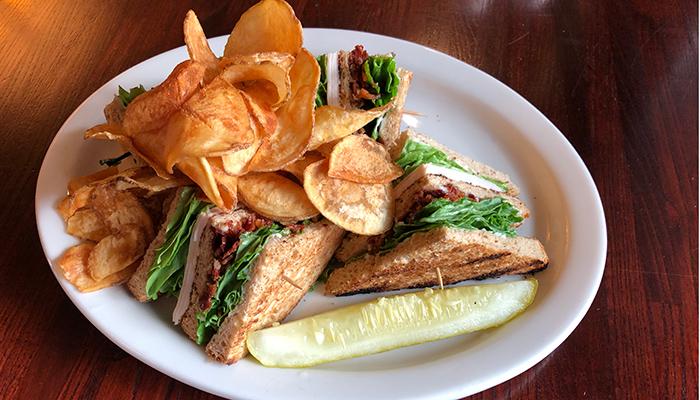 Turkey club sandwich prepared by FORE Restaurant and Bar at Deerfield Golf Club
